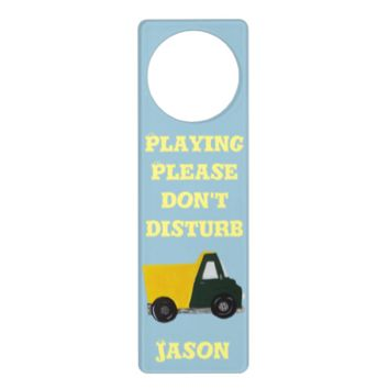 Customizable Sand truck Door Knob Hanger