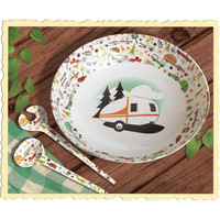 Serving Bowl and Servers - 3 Piece Camping Set