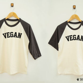 Vegan Shirt Word Shirt Instagram Tumblr Fashion Streetwear Shirt Baseball Tee Raglan Shirt Baseball Shirt Unisex Shirt Women Shirt Men Shirt