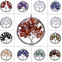 12 pieces of Wisdom Tree of Life Gemstone Pendants [Only $7.5 Per Tree + Free Shipping]