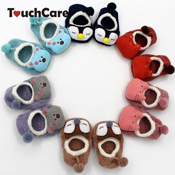 Cute Cartoon Animal Baby Boy Girl Socks Coral Fleece Floor Soft Kids Socks Infant Socks Model Anti-slip Socks