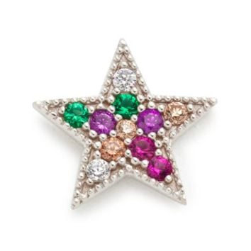 Rainbow Star Single Stud Earring