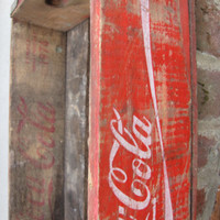 Vintage Wooden Red and White Coca-Cola Coke Crates