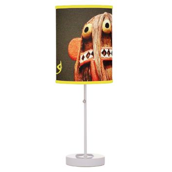 """Wild thing"" cute fun silly face photo table lamp"