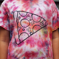 Pizza Shirt, Unisex Adult Small Tie Dye for the Pizza Lover, Pizza Gift, Pizza T-shirt, College Student, for Dad, Gifts for men, Pizza Party