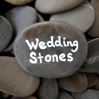 Guest Book Stones Best Quality Wish Stones Beach Wedding Stones Wedding Table Decor Guest Book Rocks Wishing Stones Flat Pebbles - 50 PIECES