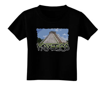 Mexico - Mayan Temple Cut-out Toddler T-Shirt Dark