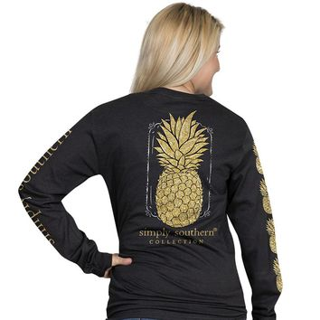 "Simply Southern ""Pineapple"" Long Sleeve Tee"