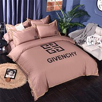 GIVENCHY Bedding Blanket Quilt coverlet Pillow shams 4 PC Bedding SET