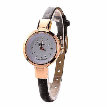 2015 Luxury Brand Women Whatch Quartz Watches Wristwatch Ladies Watch Clock Casual Watch Leather Bracelet Watch relogio feminino