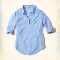 Girls Button-Front Woven Shirt | Girls New Arrivals | HollisterCo.com