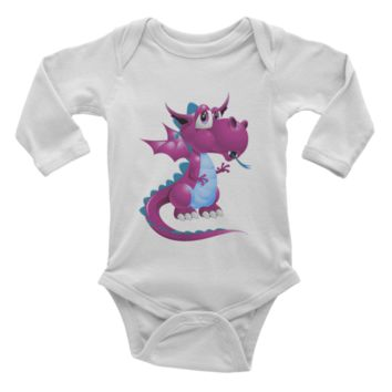 Draco Purple Infant long sleeve one-piece