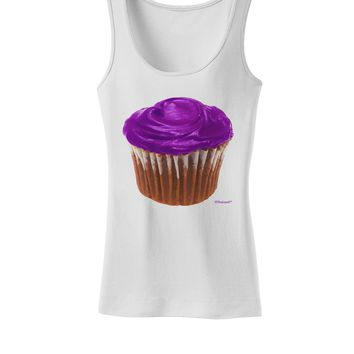 Giant Bright Purple Cupcake Womens Tank Top by TooLoud