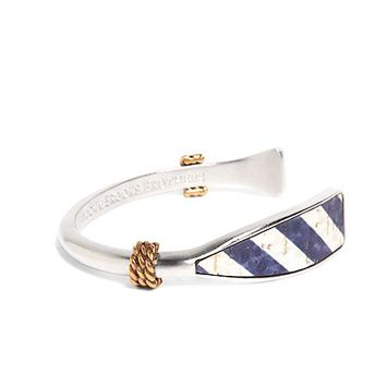 Kiel James Patrick Navy and White Oar Bracelet - Brooks Brothers