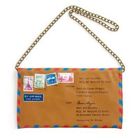 Envelope Clutch Bag with Printed Details