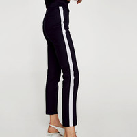 TROUSERS WITH SIDE STRIPEDETAILS