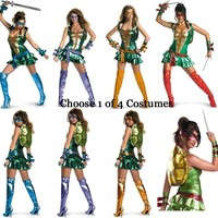Adult TMNT Sexy Mutant Ninja Turtles Turtle Costume