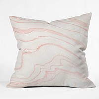 Rebecca Allen Blush Marble Throw Pillow