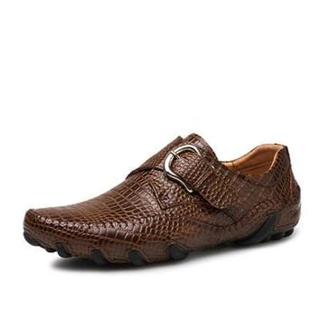 Killer Croc Genuine Leather Driving Loafers