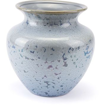 Crystal Blue Vase, Short