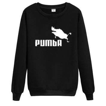 PUMBAFashion Hip-hop personality trend hip hop into round collar Sweater