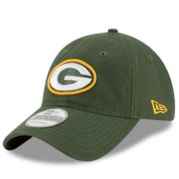 Men's Green Bay Packers New Era Green Core Shore 9TWENTY Adjustable Hat