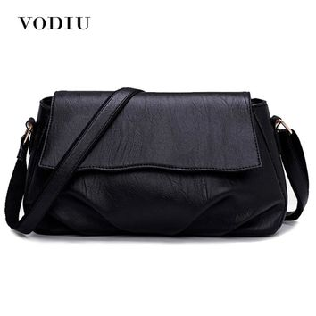 Women Bags Leather Tote Over Shoulder Sling Messenger Crossbody High Quality Fashion Small 2017 Solid Black Female Handbags