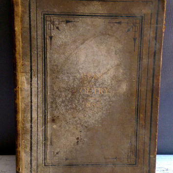 Gems of Poetry 1884/ Antique Poetry Book from the 180''s/ Antique Poetry