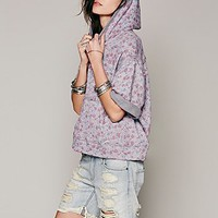 We The Free Womens Flower Power Hoodie - Grey Combo,