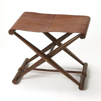Butler Leather Sutton Folding Stool
