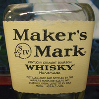 20 oz Pure Soy Candle in Reclaimed Makers Mark Liquor Bottle - Your Choice of Scent