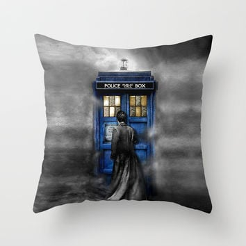 Tardis doctor who lost in the Mist apple iPhone 4 4s 5 5s 5c, ipod, ipad, pillow case and tshirt Throw Pillow by Three Second