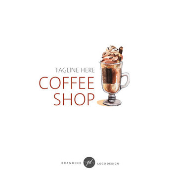 Coffee Logo Design, Premade logo, Watercolor coffee design, Blog design, Coffee Shop Logo, Branding Logo, Business Logo, marketing brand 75
