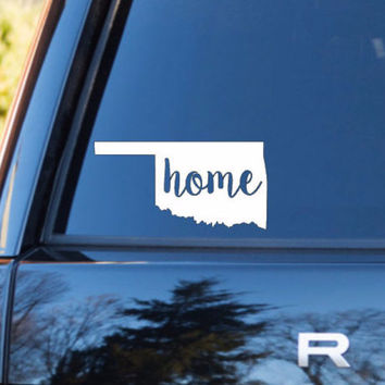 Oklahoma Home Decal | Oklahoma Decal | Homestate Decals | Love Sticker | Love Decal  | Car Decal | Car Stickers | 128