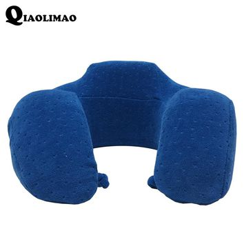 New U-Shape Travel Pillow for Airplane Solid Color U Shaped Memory Foam Pillow Travel Comfortable Pillows for Sleep Home Textile