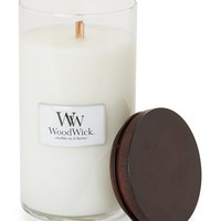 Woodwick Sugared Coconut Glass Jar Candle