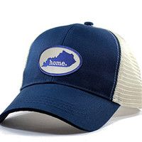 Homeland Tees Men's Kentucky Home State Trucker Hat with Blue Patch - Blue