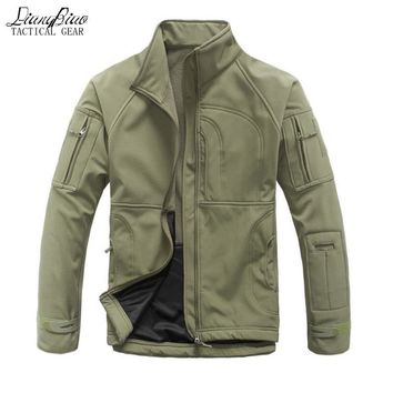 Waterproof winter Men's Jacket Coat Military Clothing Tactical Outwear US Army Breathable Nylon Light Windbreaker stand collar