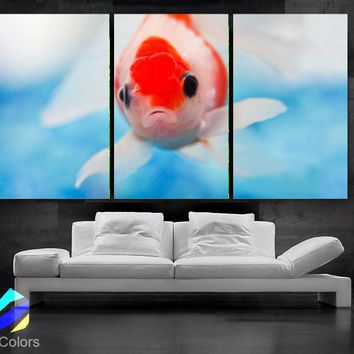 "LARGE 30""x 60"" 3 Panels Art Canvas Print beautiful  Fish Aquarium Wall decorative home interior (Included framed 1.5"" depth)"