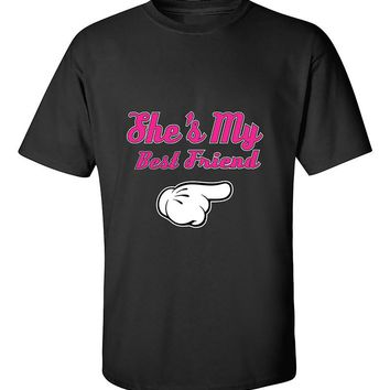 She's My Best Friend Pink T-Shirt