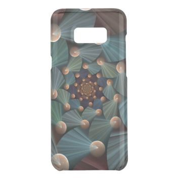 Modern Fractal Art With Depth, Brown, Slate, Blue Get Uncommon Samsung Galaxy S8 Plus Case