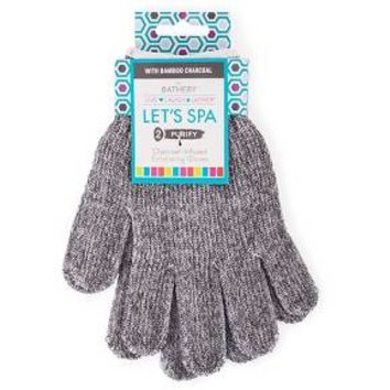 The Bathery® Charcoal Infused Exfoliating Gloves