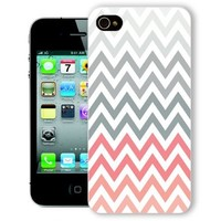 ChiChiC Iphone Case, i phone 4 4g 4s case,Iphone4 iphone4g iphone4s covers, plastic cases back cover skin protector,geometric red grey chevron zigzag