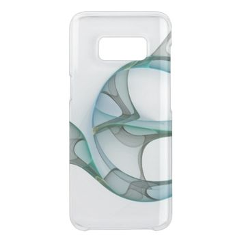 Fractal Art Blue Turquoise Gray Abstract Elegance Get Uncommon Samsung Galaxy S8 Case