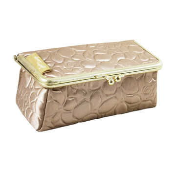 "Royal Blossom Clasp Cosmetic Bag/ Eyeglass Case 6.1""""X2.16""""X2.63"""" Champagn: Champagn"