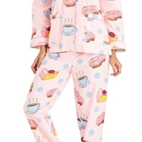 Coffee & Desserts Classic Flannel Pajama Set