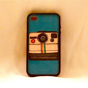 Picture This, iPhone case, iPhone cover, iPhone 4/4s, polaroid camera, hipster, old school, vintage, cute, unique, changeable, rainbow, men