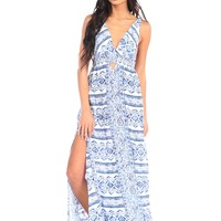 Surf Gypsy by Vintage Triangle Cutout Maxi Dress