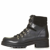 AHOY Leather Hiker Boots - Black