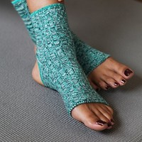 Free People Womens Spacedye Yoga Sock - Green One